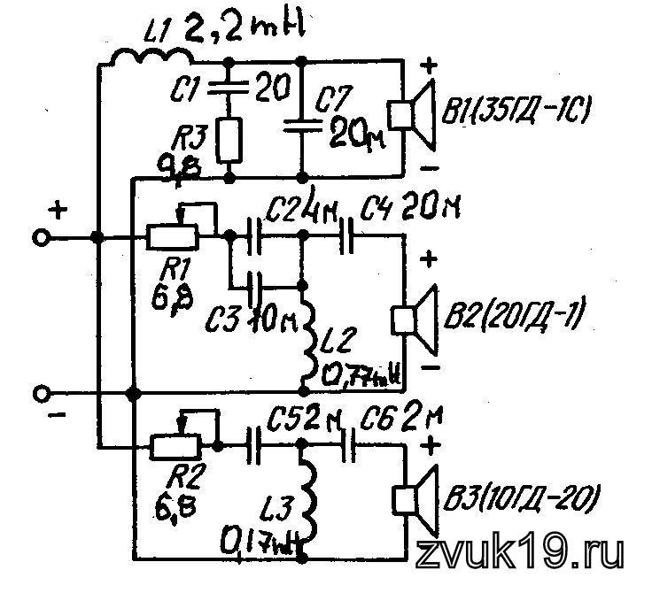 Рис. 11 Схема фильтра 35АС 021